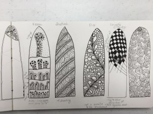 Leslie's Zentangle Windows 2