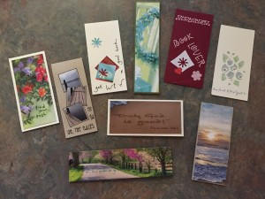 TJ's magnetic bookmark samples